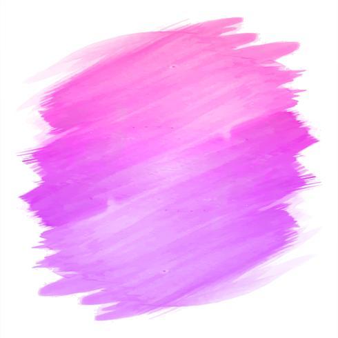 Abstrakt handrit stroke rosa akvarell design