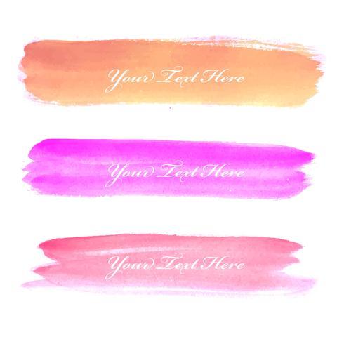 Vacker färgstark akvarell hand rita stroke bakgrund
