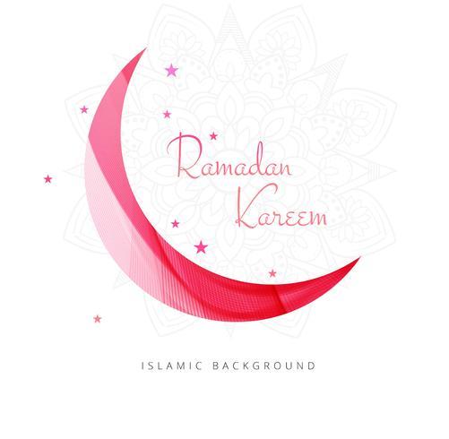Vacker ramadan kareem med månt kort design