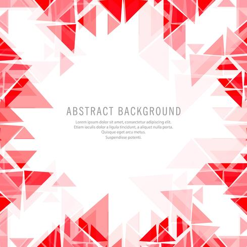 Elegant red polygonal background