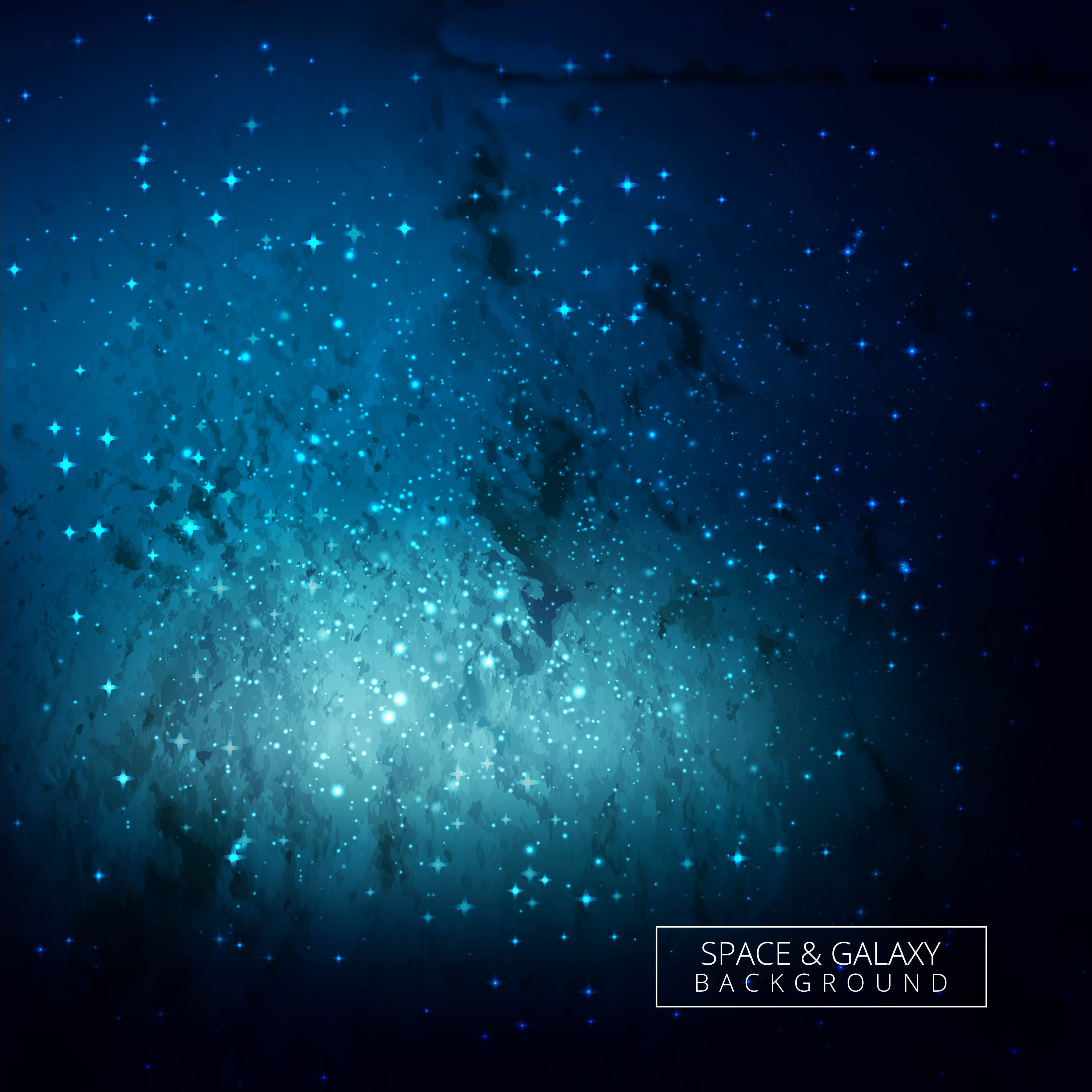 Abstract Universe Blue Galaxy Background