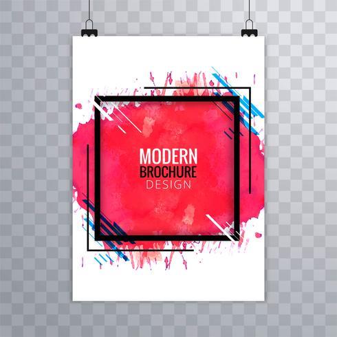 Moderna vattenfärg broschyr mall