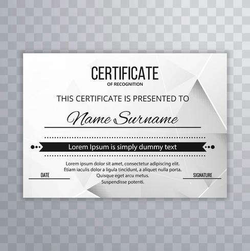 Certifikatmall vektor design