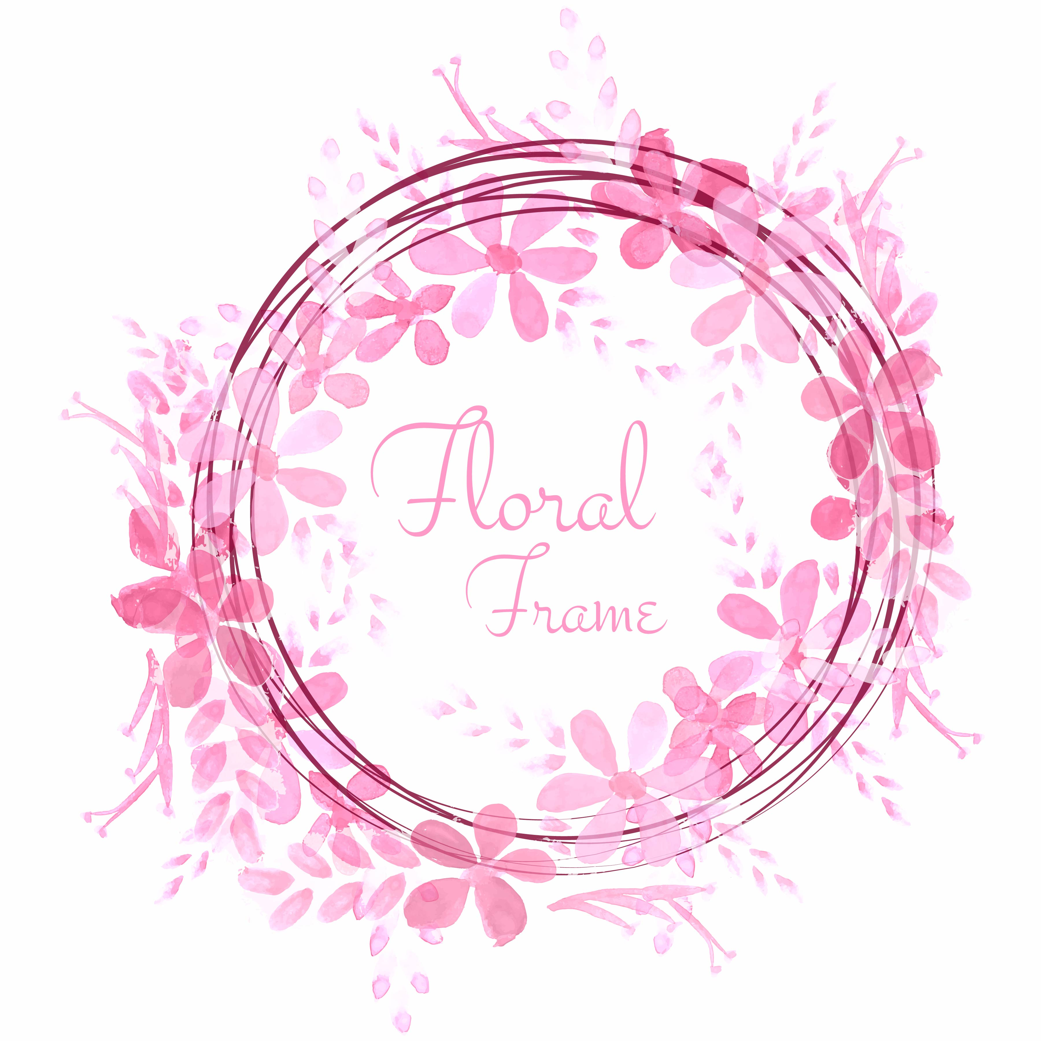 Abstract Flower Background With Decoration Elements For: Abstract Wedding Floral Frame Background