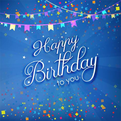Modern decorative colorful birthday poster background vector