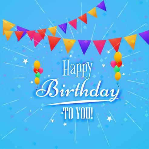 Happy Birthday Card Decorative Background Download Free