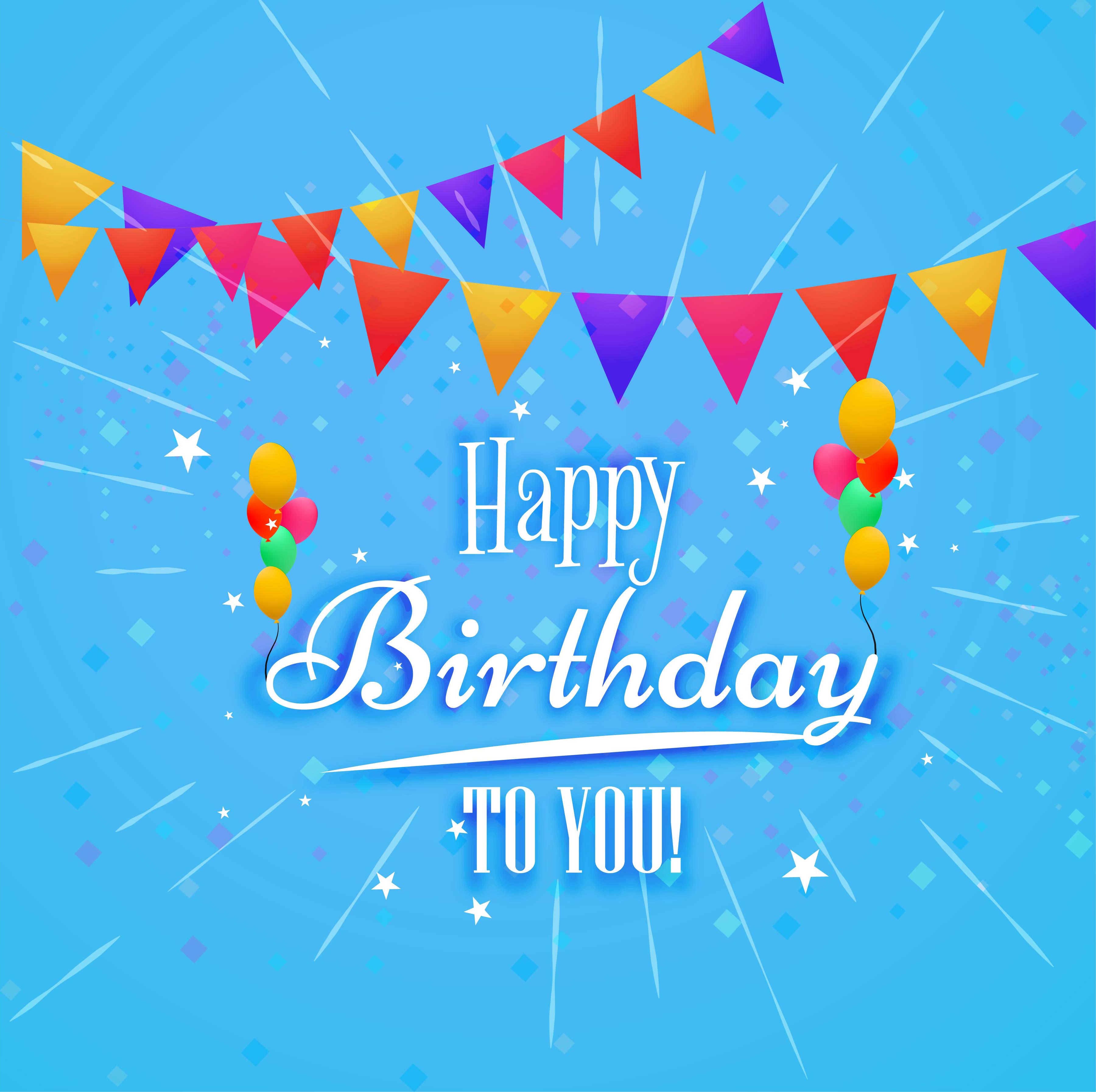 Happy Birthday Card Decorative Background