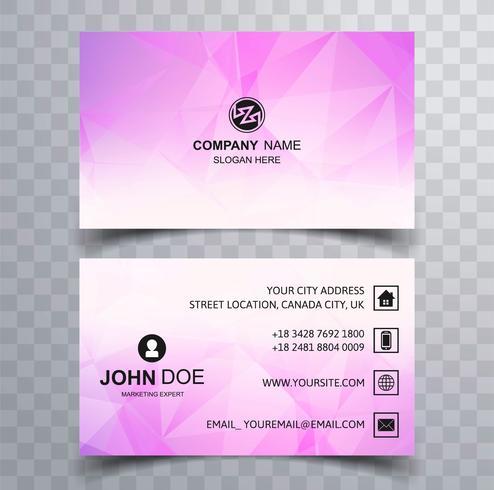 Beautiful polygon business card colorful design
