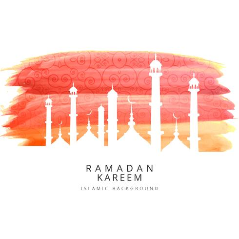 Colorful ramadan Kareem background illustration