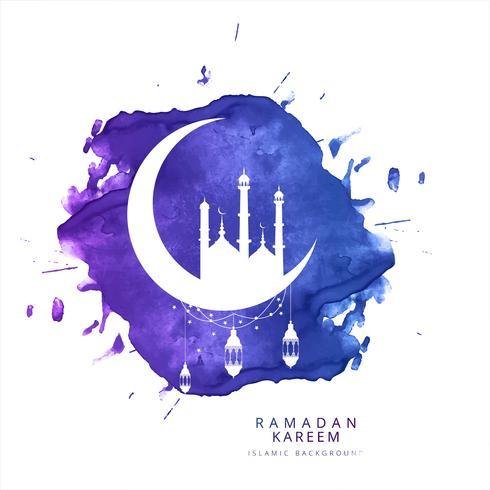Ramadan Kareem greeting card fundo bonito