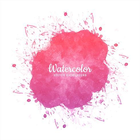 Abstrakt rosa splash akvarell bakgrund