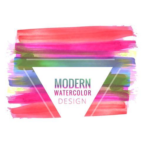 Abstrakt färgrik akvarell stroke bakgrund