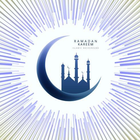 Ramadan Kareem elegant kort bakgrund vektor