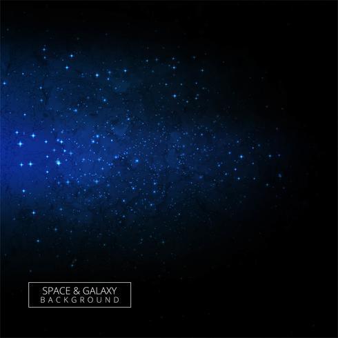 Modern blå galax bakgrund