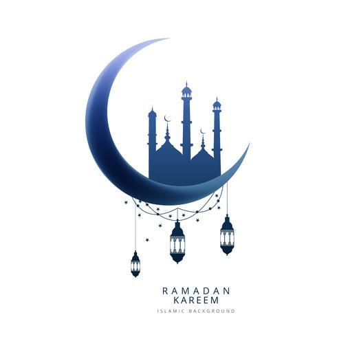 Kreativ mamma ramadan kareem kort bakgrund