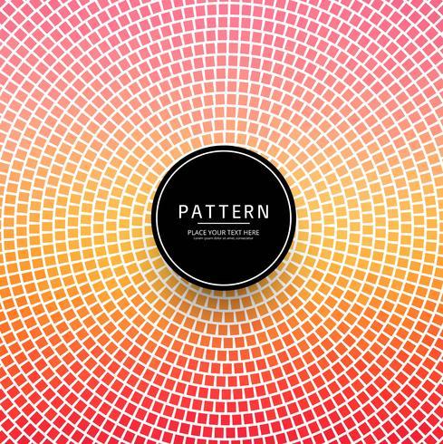 Vacker färgstark dekorativ dekorativ geometrisk mönster vektor