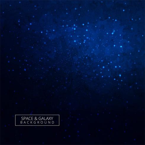 Moderner blauer Galaxiehintergrund