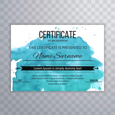 Abstrakt certifikatmall bakgrund