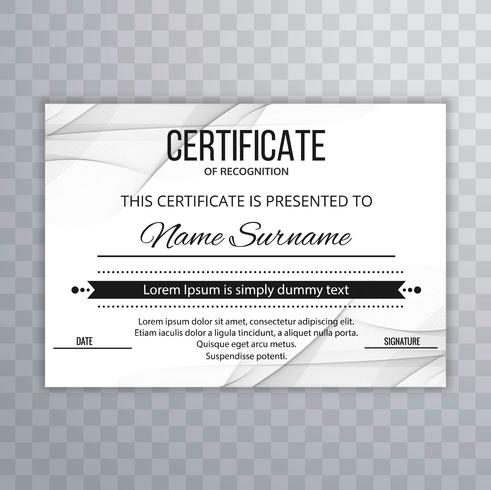 Modern certificate template background vector