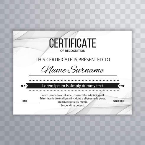 Arrière-plan du modèle de certificat moderne