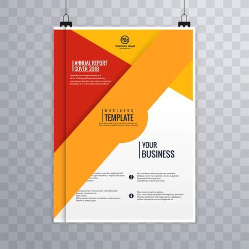Modèle coloré de brochure d'affaires moderne