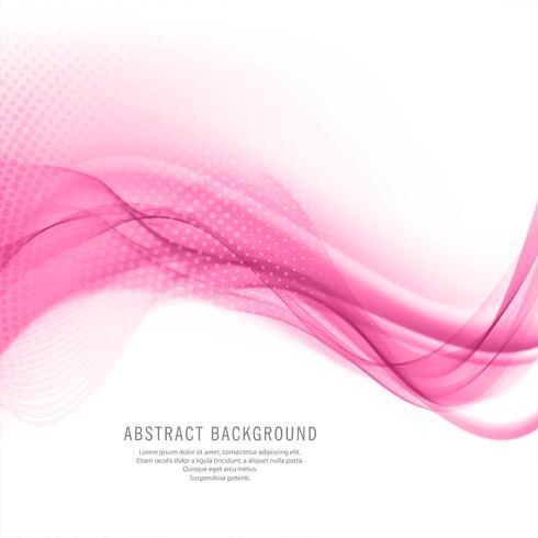 Abstract elegant pink wave stylish background