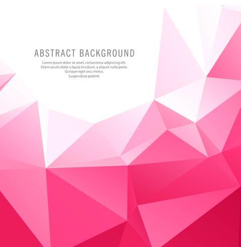 Abstrakt rosa geometrisk polygonbakgrund