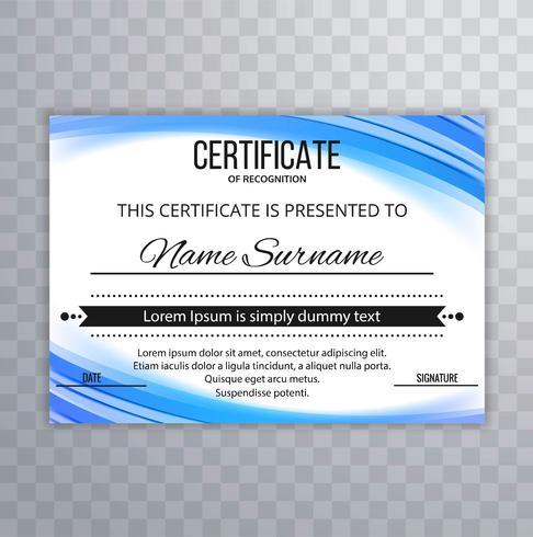 Fondo de plantilla de certificado creativo abstracto