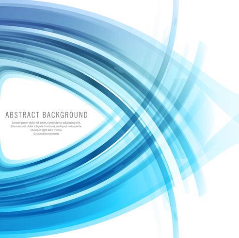 Modern blue business wavy background