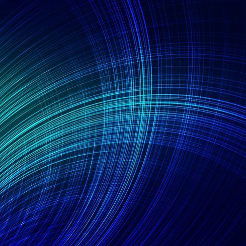 Modern bright blue lines wave background