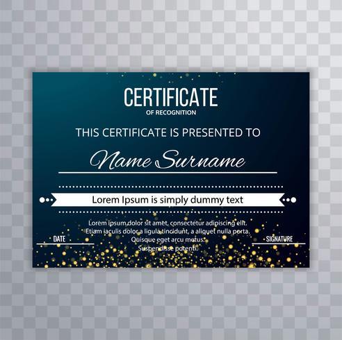 Beautiful certificate template design illustration