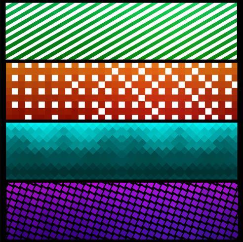 Modern colroful pattern banners set