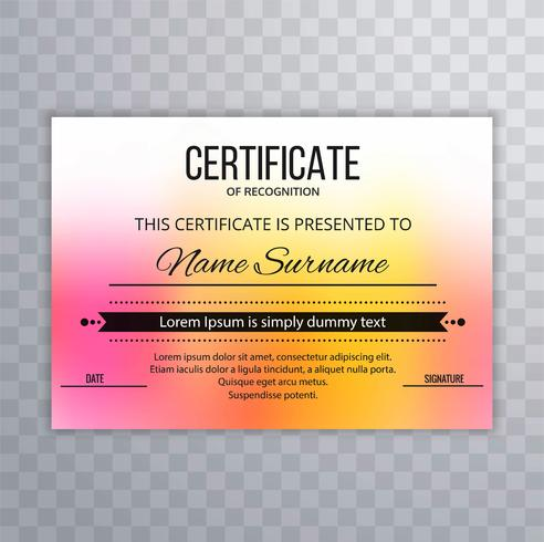 Beautiful colorful certificate template background