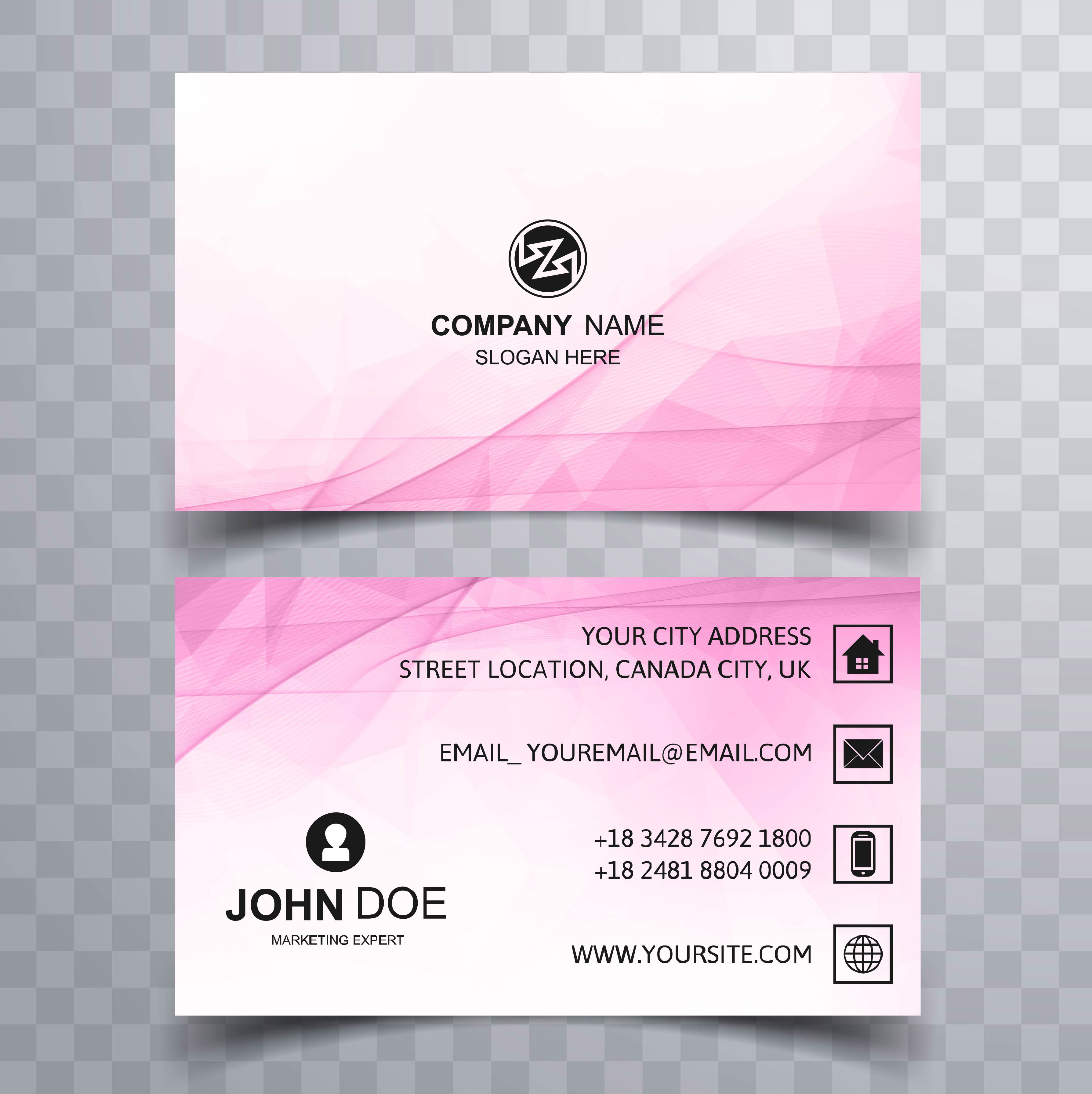 Beautiful colorful business card template design Download Free