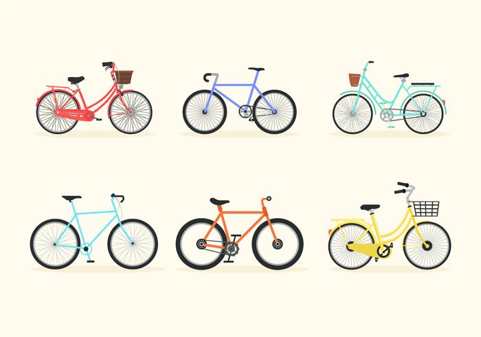 pack vecteur bicicleta bike