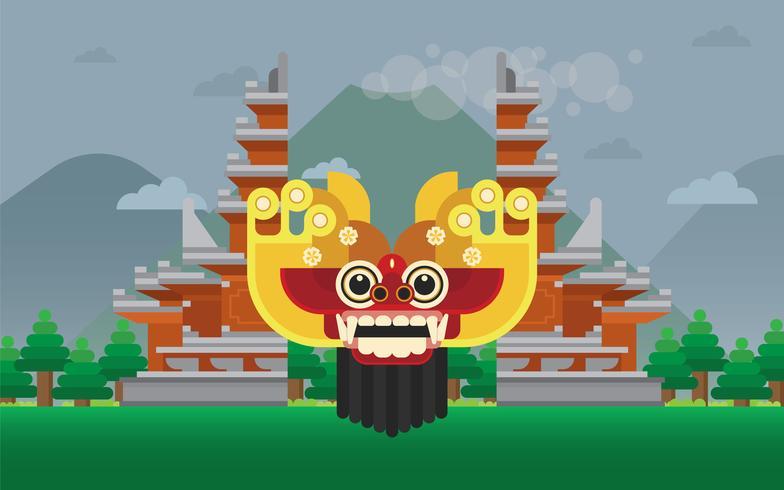 Barong Bali Illustration