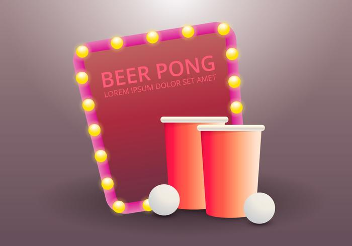 Öl Pong Party Illustration