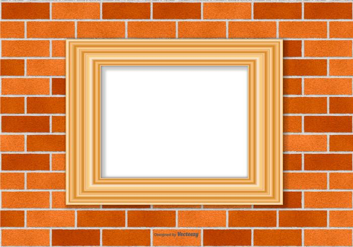 Frame on Brick Wall Background