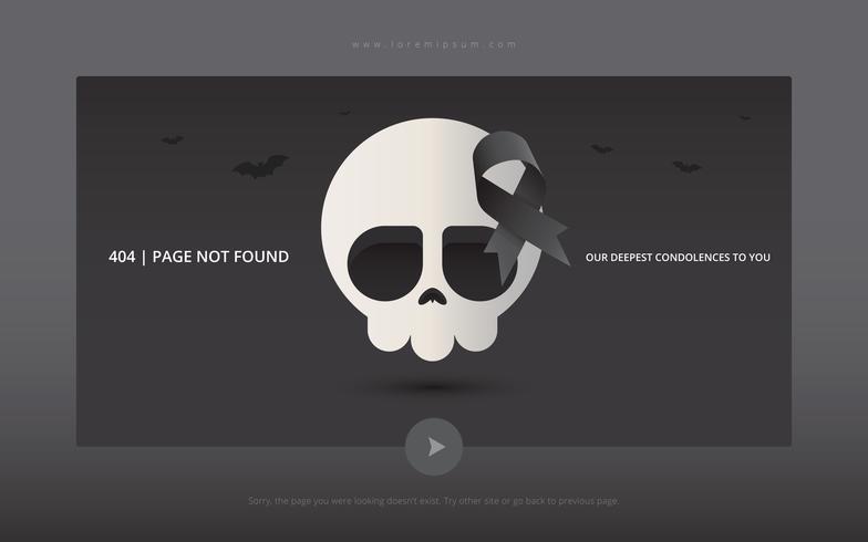 404 paginafout met grappig cijfer.