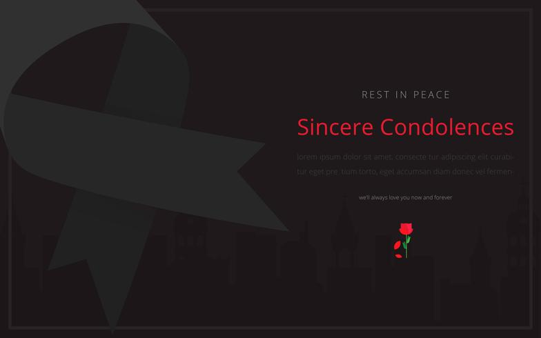 Condolences Editable Template Ilustração de saudações