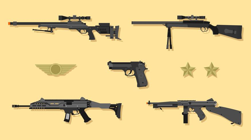 vecteur pistolet airsoft