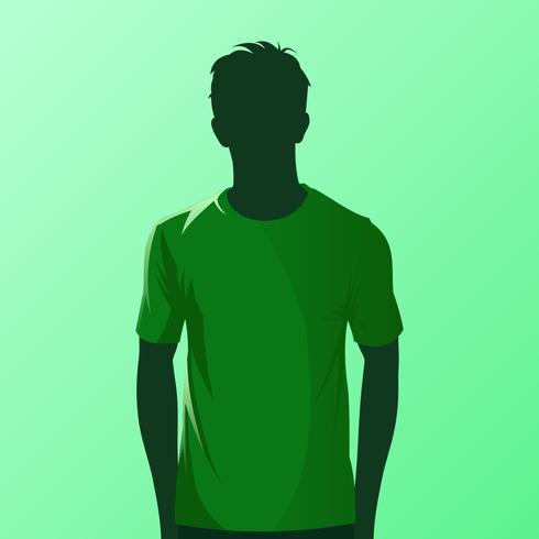 Vetor de modelo de camiseta verde
