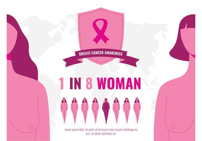 Woman Survivor Breast Cancer vector