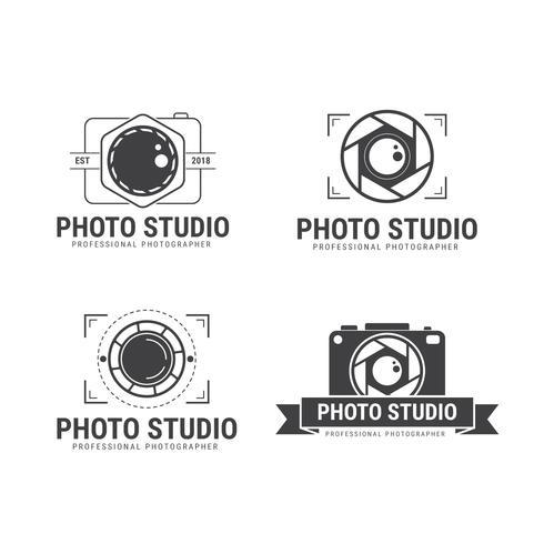 Fotograf Logo Vektor Samling