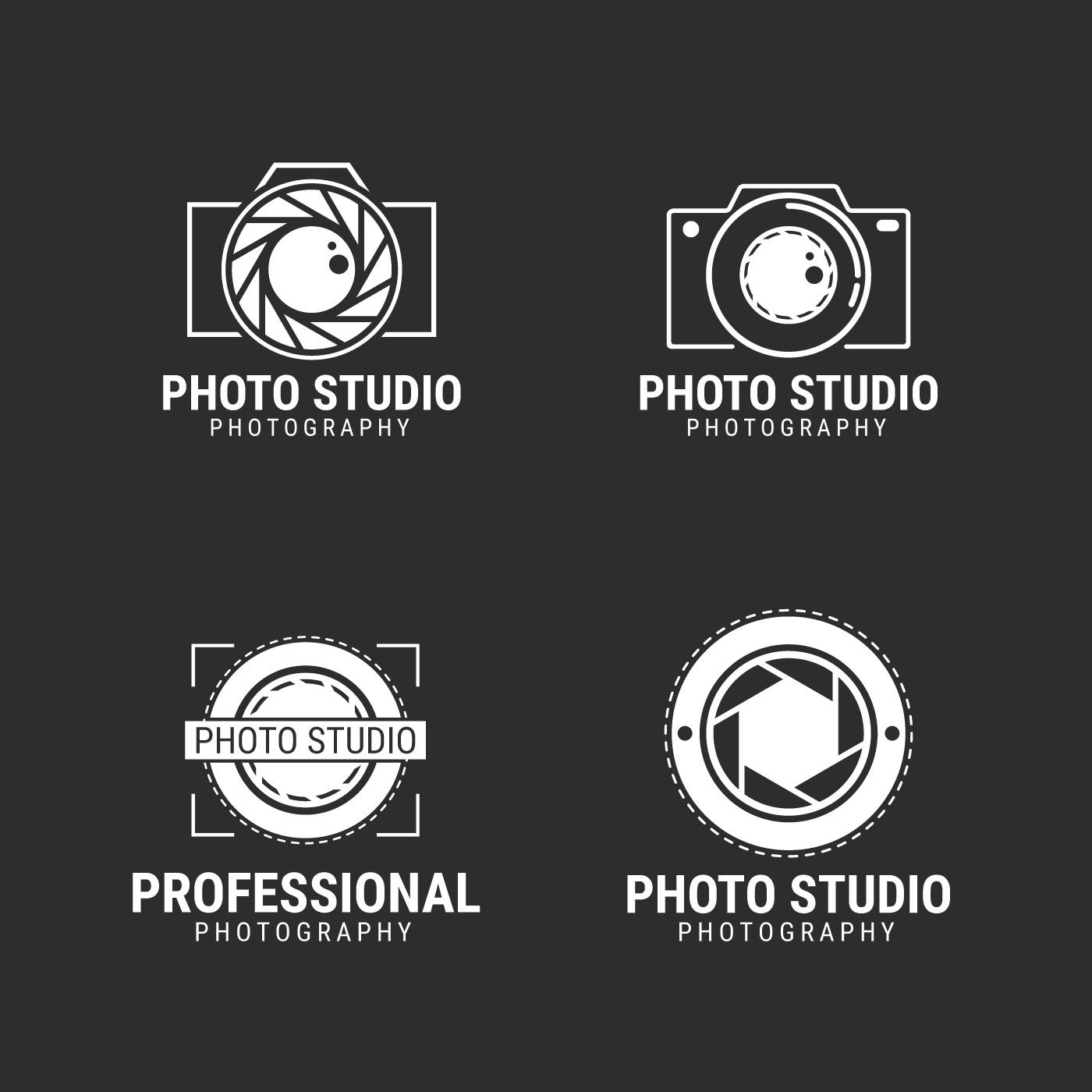 Hipster Design Studio Logo Vector: Photographer Logo Vector Collection