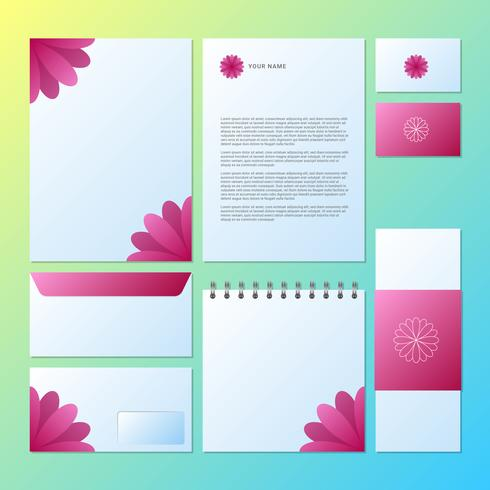 Vector Template Identity On Floral Background