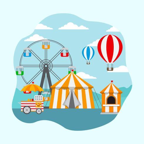 County Fair Vector Illustration