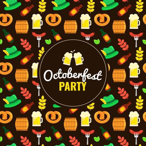 Patrón de elementos Oktoberfest