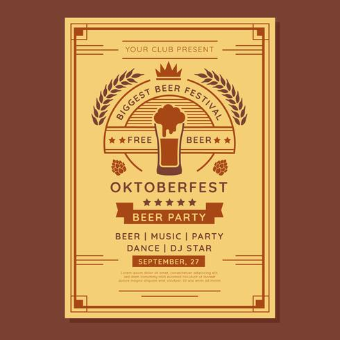 Oktoberfest  Flyer Template Vector