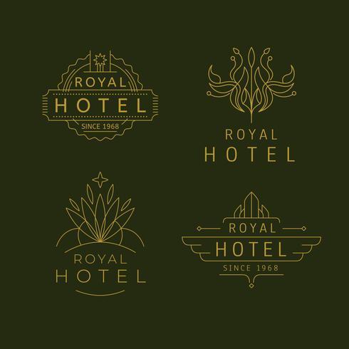Lyxhotell företagsidentitet